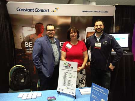 With some of the great guys from Constant Contact at the Miami Business Expo
